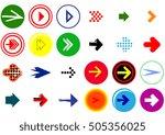 arrow sign icon set | Shutterstock .eps vector #505356025