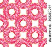 vector seamless pattern. cute... | Shutterstock .eps vector #505357099