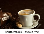 a cup of fresh coffee beans | Shutterstock . vector #50535790