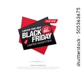 black friday sale icon on a... | Shutterstock .eps vector #505363675