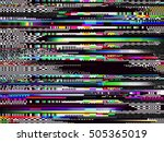 glitch background. computer... | Shutterstock .eps vector #505365019