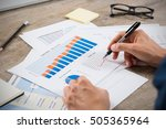 business man reading the charts ... | Shutterstock . vector #505365964