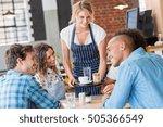 Happy Smiling Waitress Serving...