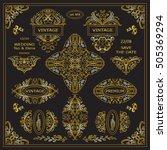 vector set of vintage elements... | Shutterstock .eps vector #505369294