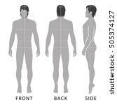 fashion man full length...   Shutterstock . vector #505374127
