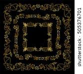 vector halloween elements for... | Shutterstock .eps vector #505376701