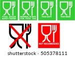 food grade icon set   food safe ... | Shutterstock .eps vector #505378111