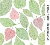seamless leaf pattern  green... | Shutterstock .eps vector #505379065