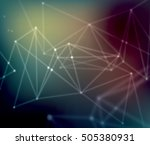 abstract mesh background with... | Shutterstock . vector #505380931