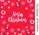 christmas greeting card with... | Shutterstock .eps vector #505381231
