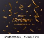 merry christmas  xmas and new... | Shutterstock .eps vector #505384141
