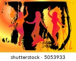 party people on abstract... | Shutterstock .eps vector #5053933
