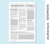 graphical design newspaper... | Shutterstock .eps vector #505394545