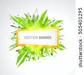 white origami paper banner... | Shutterstock .eps vector #505401295