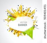 white origami paper banner... | Shutterstock .eps vector #505401451