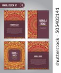 tribal mandala design set.... | Shutterstock .eps vector #505402141