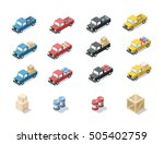 vector isometric set  of wagon... | Shutterstock .eps vector #505402759