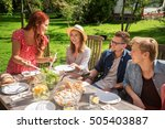 leisure  holidays  eating ... | Shutterstock . vector #505403887