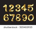 vector golden numbers | Shutterstock .eps vector #505403935