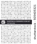shopping and commerce icon set... | Shutterstock .eps vector #505405321