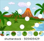 volcanic eruption. complete the ... | Shutterstock .eps vector #505405429