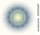 openwork circular ornament.... | Shutterstock .eps vector #505405687