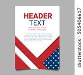 usa patriotic background.... | Shutterstock .eps vector #505406617