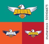 basketball team with color logo | Shutterstock .eps vector #505406875
