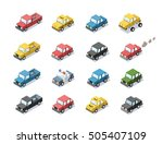 vector isometric set of city... | Shutterstock .eps vector #505407109