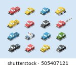 vector isometric set of city... | Shutterstock .eps vector #505407121