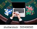casino  online gambling ...   Shutterstock . vector #505408585