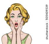 pop art illustration of...   Shutterstock .eps vector #505409539
