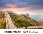 the great wall of china with... | Shutterstock . vector #505410061
