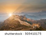 the great wall of china with a... | Shutterstock . vector #505410175