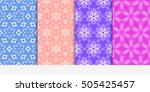 fashion seamless floral color...   Shutterstock .eps vector #505425457