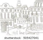 london landscape in vintage... | Shutterstock .eps vector #505427041