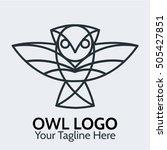 owl logo template   Shutterstock .eps vector #505427851