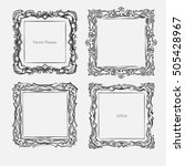 antique square decorative... | Shutterstock .eps vector #505428967