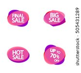 set vector speech bubble ... | Shutterstock .eps vector #505431289