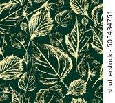 green leaf texture pattern | Shutterstock . vector #505434751