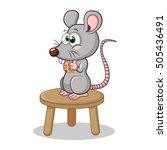rat eating cheese | Shutterstock .eps vector #505436491