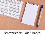 office supplies  keyboard and...   Shutterstock . vector #505440205