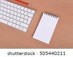 office supplies  keyboard and...   Shutterstock . vector #505440211