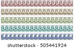 tribal border pattern with abc... | Shutterstock .eps vector #505441924
