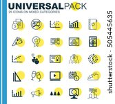set of 25 universal editable... | Shutterstock .eps vector #505445635