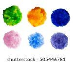 rainbow colors watercolor paint ... | Shutterstock .eps vector #505446781