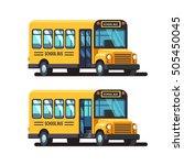 yellow school bus 3d side view...