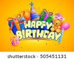 vector illustration of happy... | Shutterstock .eps vector #505451131