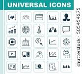 set of 25 universal editable... | Shutterstock .eps vector #505454275