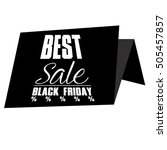 isolated black friday label on... | Shutterstock .eps vector #505457857